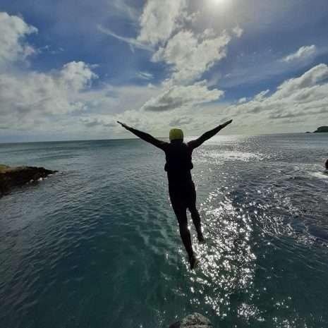 Film location coasteering big jump