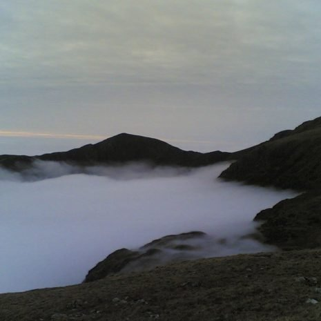 Cadir idris above the clouds